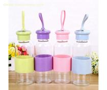 Wholesale 500ML Portable glass water bottle