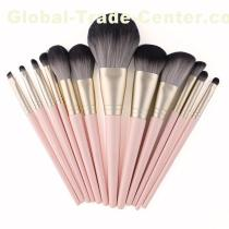 Sakura pink custom logo cosmetic brush 12 pieces foundation brush set oem blush brush set