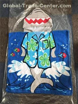 Cotton Kids Wholesale Hooded Poncho baby hooded Beach Towel YKT7058