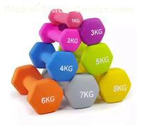 1 Pair Dip Dumbbell Color Fitness Dumbbell Lady Sports Dumbbell Women's Fitness Dumbbell Fitness Equipment Random Color