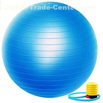 Exercise Ball Extra Thick Yoga Ball Chair, Professional Grade Anti-Burst Balance & Stability Ball Supports 2000lbs with Quick Pump